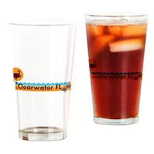 Clearwater FL - Beach Design. Drinking Glass