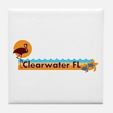 Clearwater FL - Beach Design. Tile Coaster
