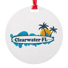 Clearwater FL - Surf Design. Ornament
