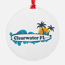 Clearwater FL - Surf Design. Ornament