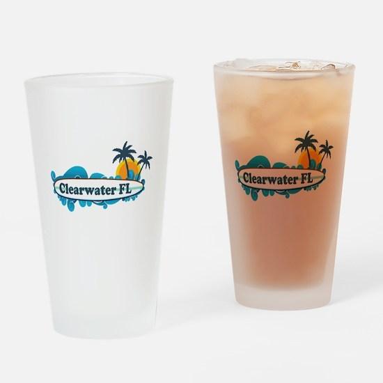 Clearwater FL - Surf Design. Drinking Glass