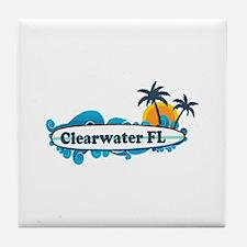 Clearwater FL - Surf Design. Tile Coaster