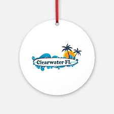 Clearwater FL - Surf Design. Ornament (Round)