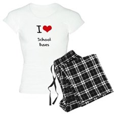 I Love School Buses Pajamas