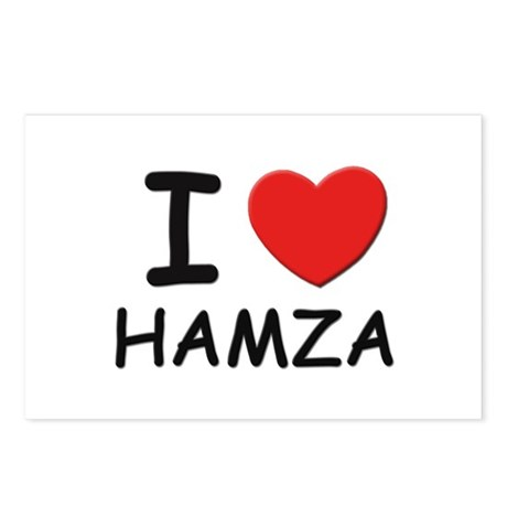 I love Hamza Postcards (Package of 8)