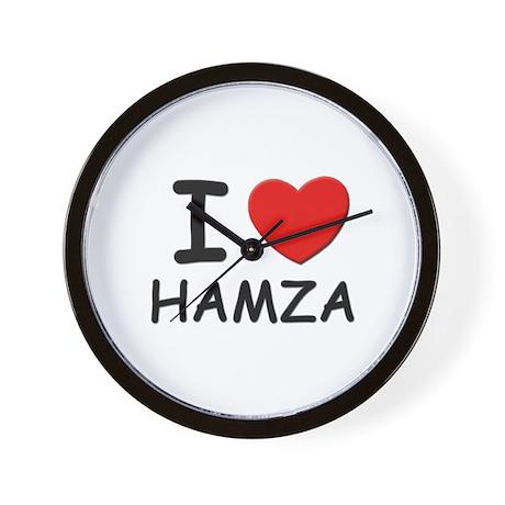 I love Hamza Wall Clock