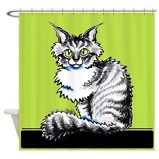Maine Coon Tabby Shower Curtain