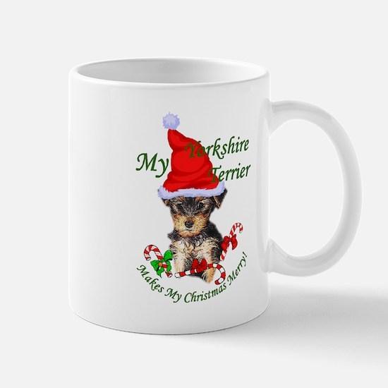 Yorkshire Terrier Christmas Mug