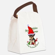Yorkshire Terrier Christmas Canvas Lunch Bag