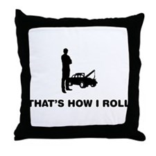 Tow Truck Operator Throw Pillow