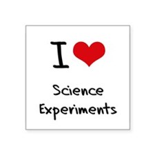 I Love Science Experiments Sticker