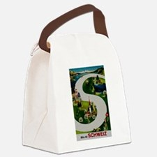 Vintage Switzerland Travel Ad Canvas Lunch Bag