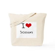 I Love Scissors Tote Bag