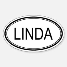 Linda Oval Design Oval Decal