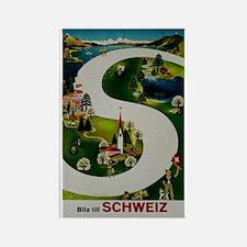 Vintage Switzerland Travel Ad Rectangle Magnet