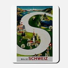 Vintage Switzerland Travel Ad Mousepad