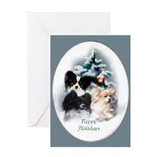 Papillon Christmas Greeting Card