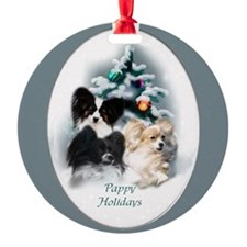 Papillon Christmas Ornament