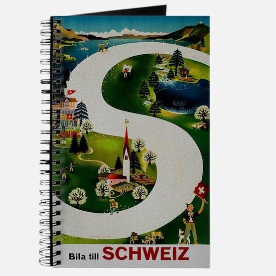 Vintage Switzerland Travel Ad Journal