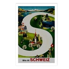 Vintage Switzerland Travel Ad Postcards (Package o