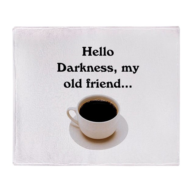 hello darkness my old friend throw blanket by bnspired. Black Bedroom Furniture Sets. Home Design Ideas