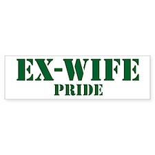 Ex-Wife Pride Bumper Bumper Sticker