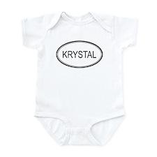 Krystal Oval Design Infant Bodysuit