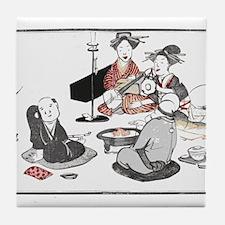 Geisha Music Tile Coaster