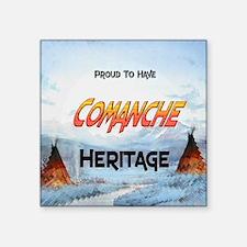 """Comanche Heritage Square Sticker 3"""" x 3"""""""