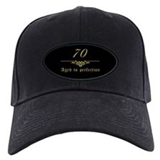 70th Birthday Aged To Perfection Baseball Hat