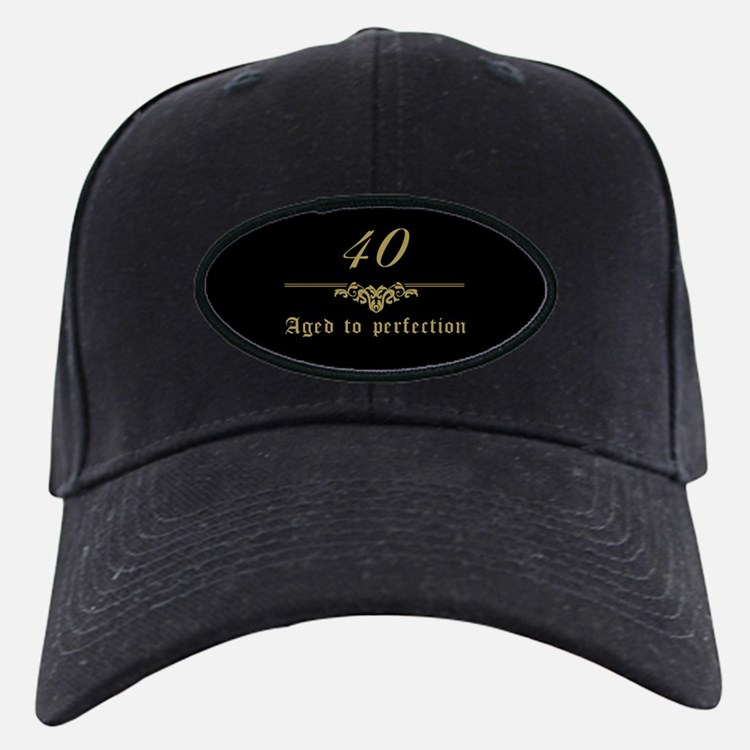 40th Birthday Aged To Perfection Baseball Hat