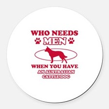 Australian Cattle mommy designs Round Car Magnet
