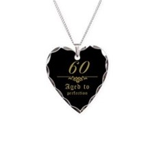 Fancy 60th Birthday Necklace Heart Charm