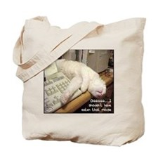 Cat & Keyboard Tote Bag