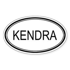 Kendra Oval Design Oval Decal