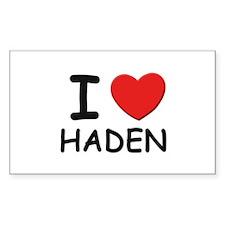 I love Haden Rectangle Decal