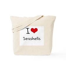 I Love Seashells Tote Bag