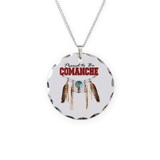 Proud to be Comanche Necklace Circle Charm