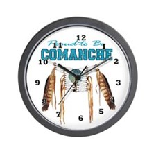 Proud to be Comanche Wall Clock