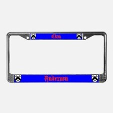 Cute Anderson License Plate Frame