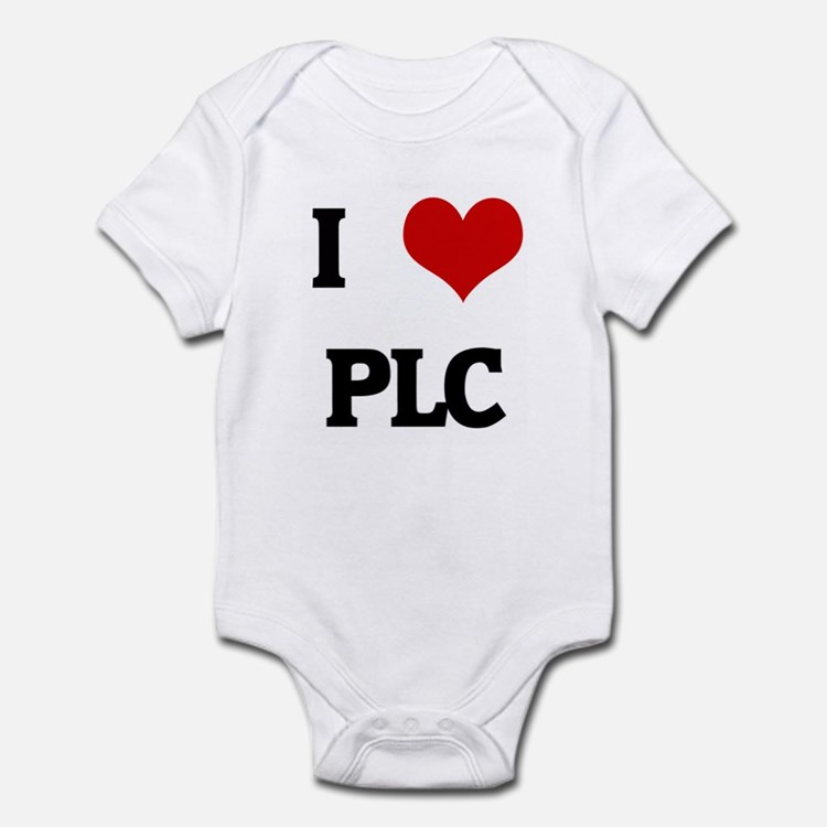 I Love PLC Infant Bodysuit