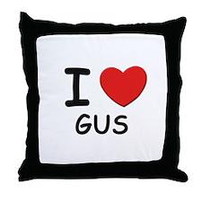 I love Gus Throw Pillow