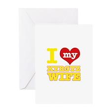 I love my Kyrgyz Wife Greeting Card