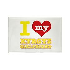 I love My Kyrgyz Girlfriend Rectangle Magnet