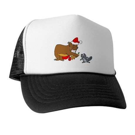 Christmas Beaver Trucker Hat
