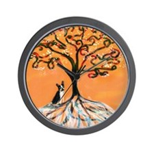 Boston Terrier orange Wall Clock