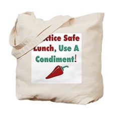 Practice Safe Lunch Tote Bag