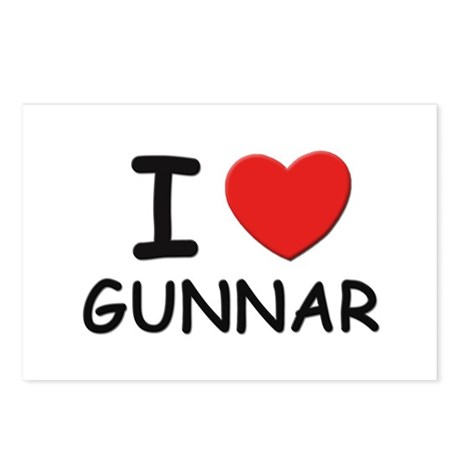 I love Gunnar Postcards (Package of 8)