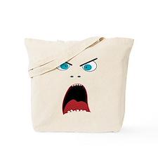 Funny shouting man face Tote Bag