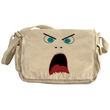 Funny shouting man face Messenger Bag